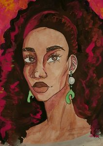 Lady With Pearl Earrings