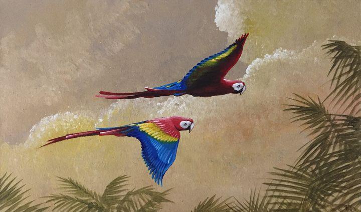 Macaws flight - Rigel Sauri