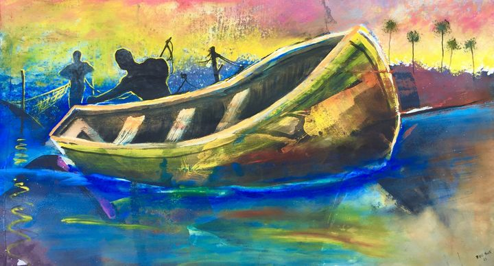 Fishing boat arrival - Rigel Sauri
