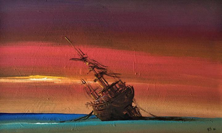 Aground boat 1 - Rigel Sauri