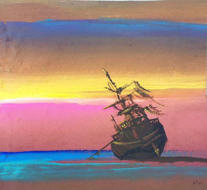 Aground boat 2 - Rigel Sauri