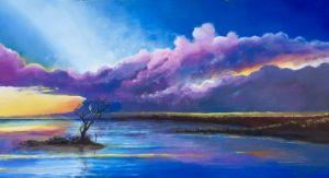 Yucatan marsh sunset