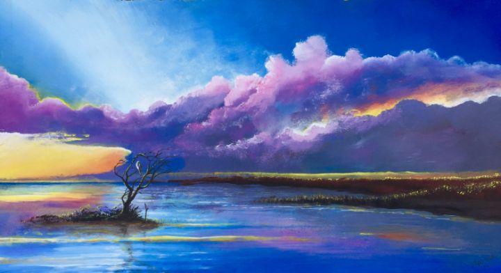 Yucatan marsh sunset - Rigel Sauri