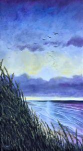 Flock at sunset