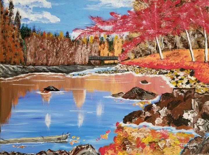 Autumn Lake - F. Kenneth Art