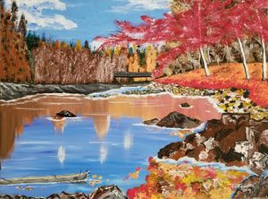 Autumn Lake - F. Kenneth Art