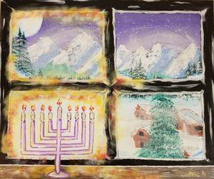 Hanukkah's Glow - F. Kenneth Art