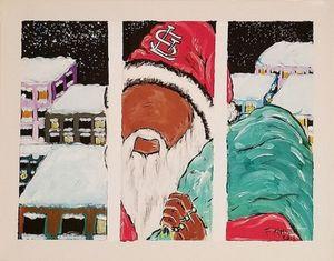Black Santa - F. Kenneth Art