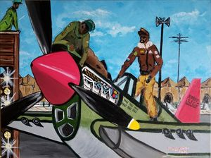 Tuskegee Red - F. Kenneth Art
