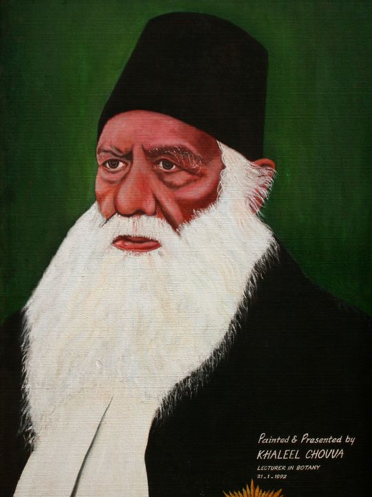Sir Syed Ahmed Khan - Painting - Khaleel Chovva