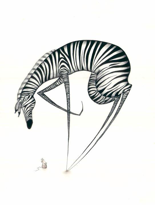 African Nursery Art, Cute Zebra - Mency Rae