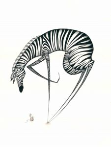 African Nursery Art, Cute Zebra