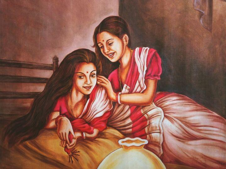 Two lady in a Darkroom - Deepak Arts