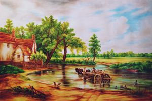 Vintage Horse cart Scenery