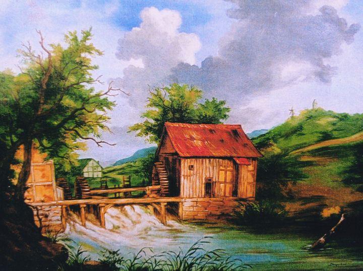Watermills & Hut - Deepak Arts