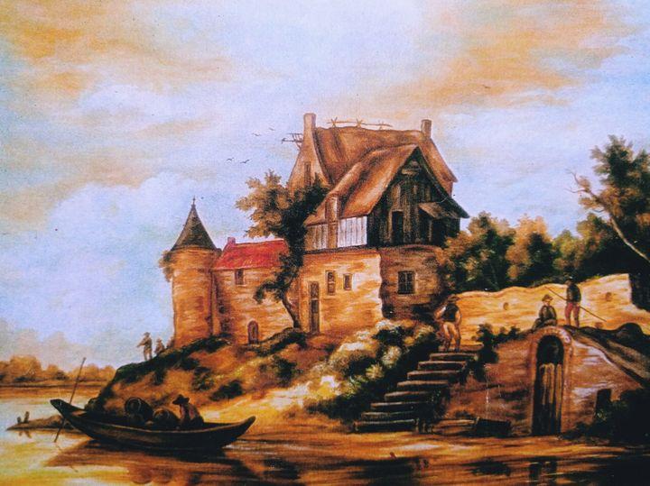 Landscape with Village House - Deepak Arts