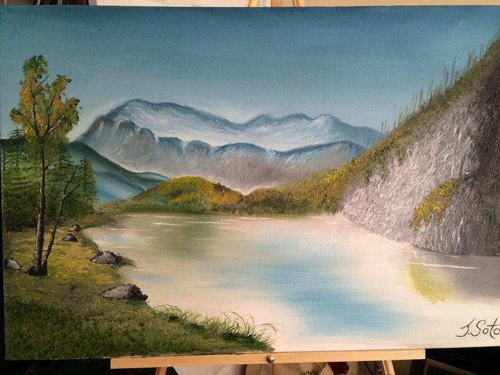 Sun cliffs - Javier's fine oil paintings