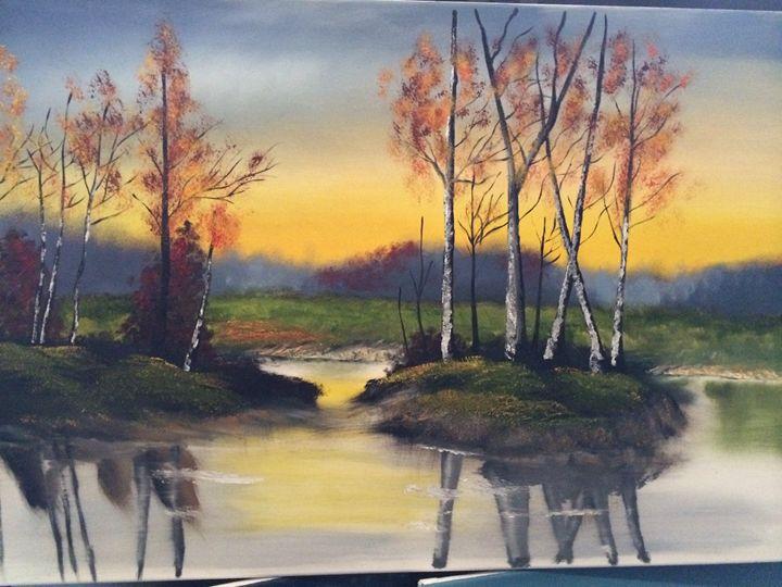 River's Edge - Javier's fine oil paintings