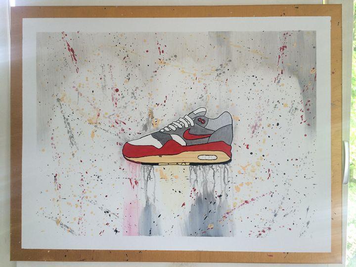 Nike Air Max 1 Acrylic Painting - Mr Opulence Art