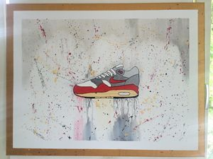 Nike Air Max 1 Acrylic Painting