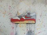 Nike Air Max 1 Acrylic Painting