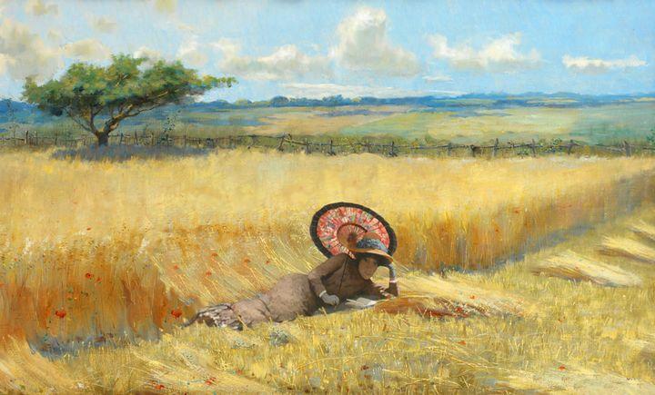 The Lady in the Cornfield. - Michael Byard. Digital Artist