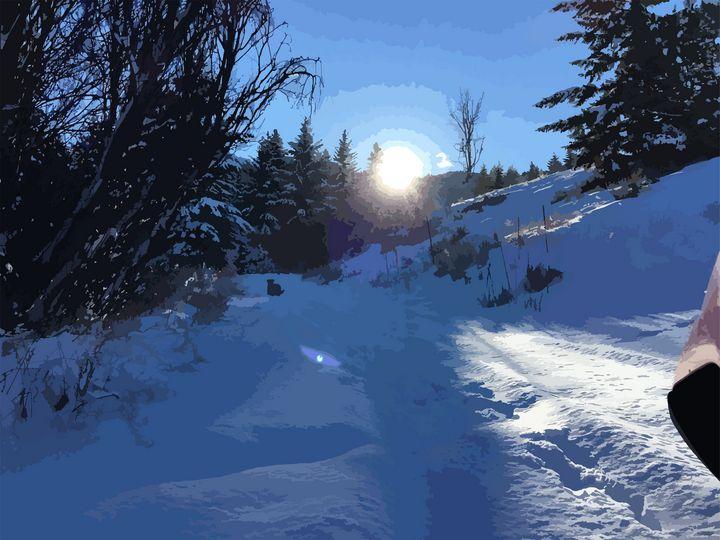 Winter landscape - Art by Esther