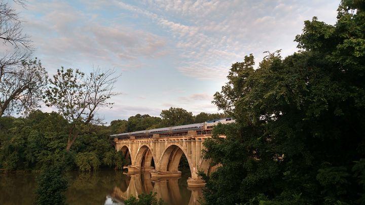 Evening train, Fredericksburg VA - Ani Miracle Arts