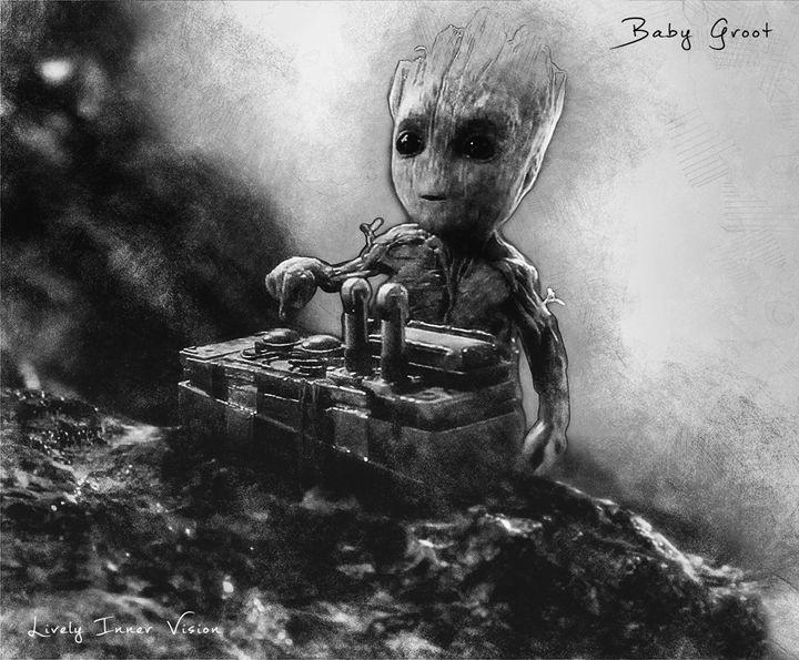 Baby Groot - Lively Inner Vision