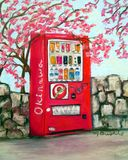 Vending Machine with Cherry Blossoms