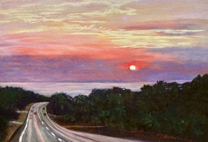 Sunset Douglas Boulevard - Mary Breshike's Art