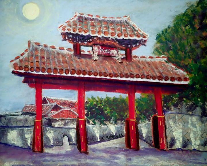 Harvest Moon Shuri Castle - Mary Breshike's Art