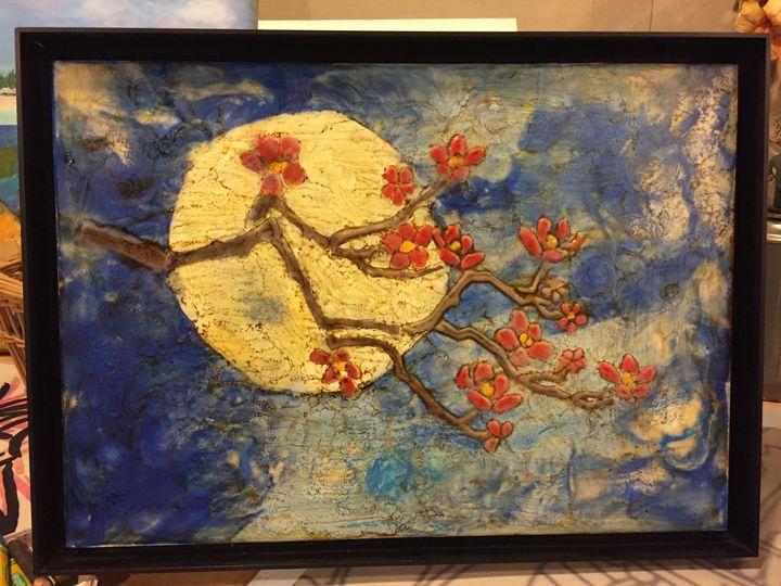Moonlit Cherry Blossom - Mary Breshike's Art