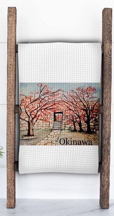 Cherry Blissful Tea Towel - Mary Breshike's Art