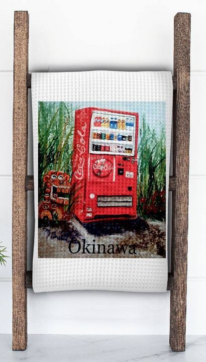 Red Vending Machine with Shisha - Mary Breshike's Art