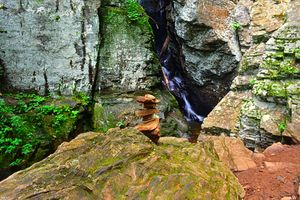 Cairn At Raven Cliffs Waterfall GA