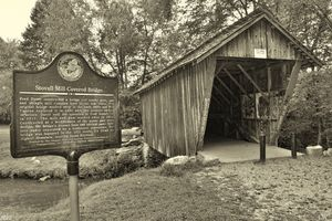 Stovall Mill Covered Bridge Black An