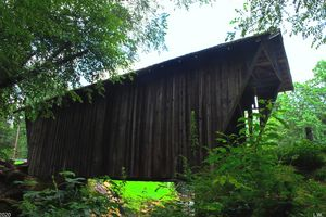 Looking Up At Stovall Covered Bridge