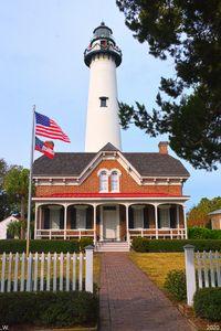 St. Simons Island Lighthouse Vertica