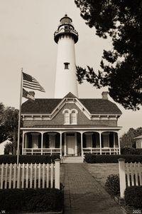 St. Simons Island Lighthouse B/W