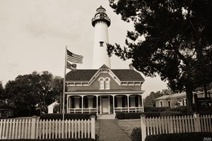 St. Simons Island Lighthouse B/W