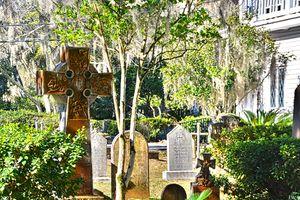 Celtic Cross And Headstones Christ C