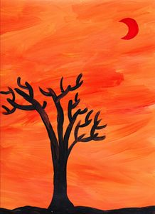 The Tree and the Red Moon