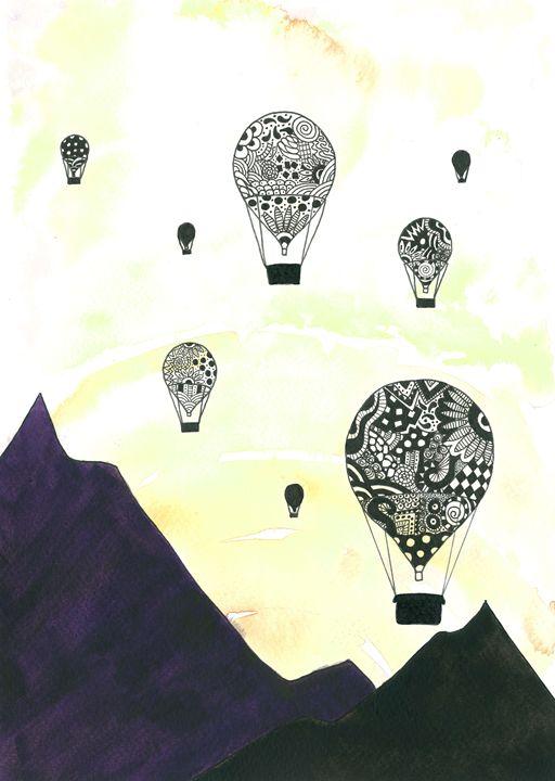 Hot Air Balloons - Tinker Art