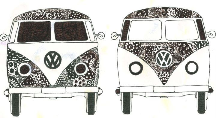 VW Camper Vans - Tinker Art