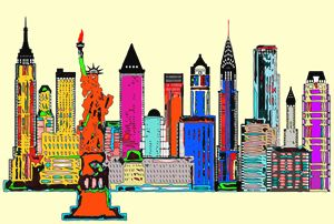 New York City Skyline Series by Rafa
