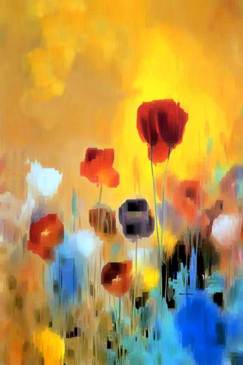 Flower Bouquet of Poppies - Rafael Salazar