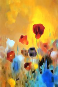 Flower Bouquet of Poppies