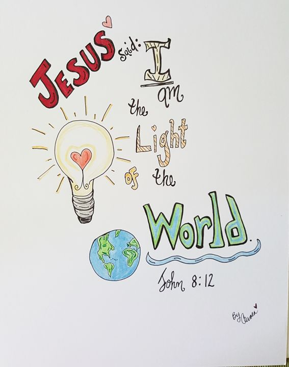 The light of the world! - LisaUniqueTreasures