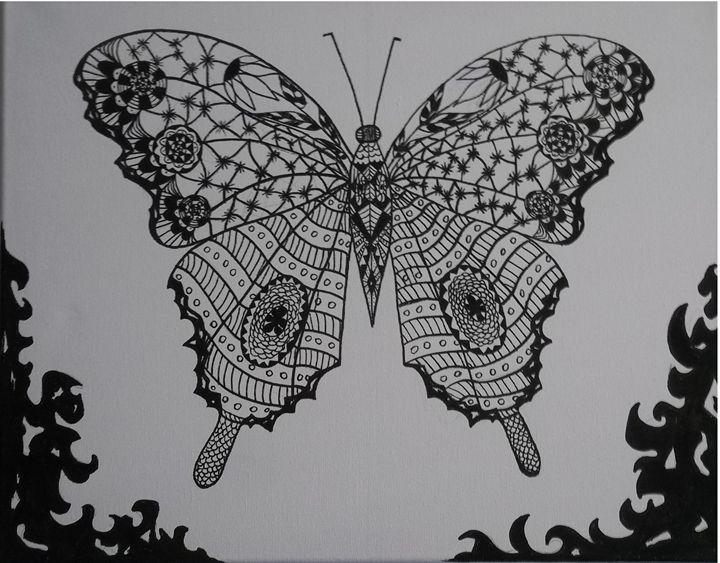 ORIGINAL ART DRAWING ON CANVAS - Adiel